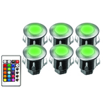 Kits de 6 mini spots chromo